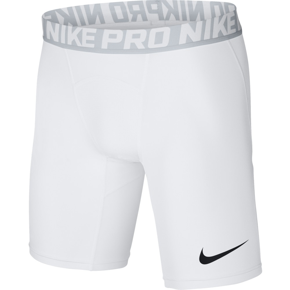 """Nike Cool Compression 6"""" Short  ADULT ONLY White/Pure Platinum"""