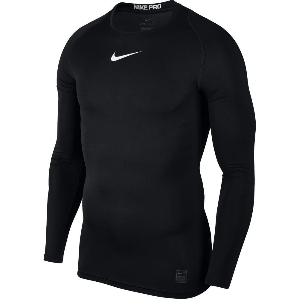 Nike Top Compression Crew Long Sleeve ADULT ONLY Black/White