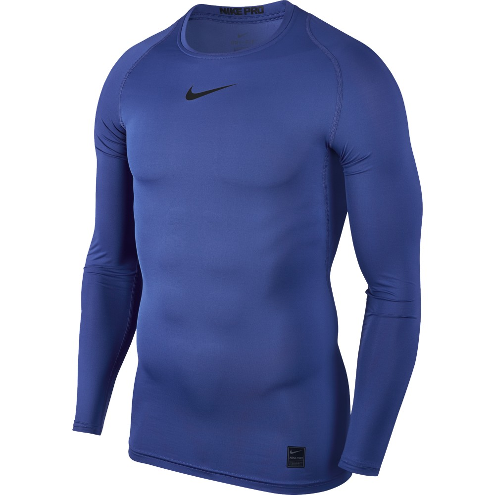 Nike Top Compression Crew Long Sleeve ADULT ONLY Game Royal/Black