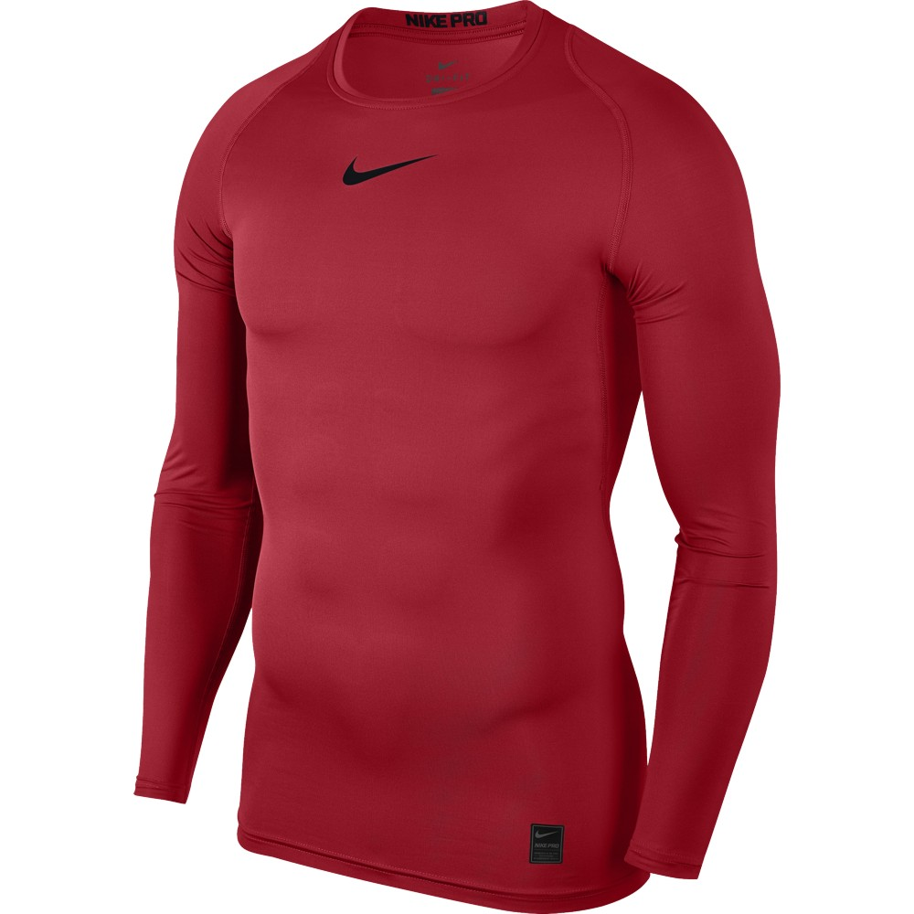 Nike Top Compression Crew Long Sleeve ADULT ONLY University Red/Black