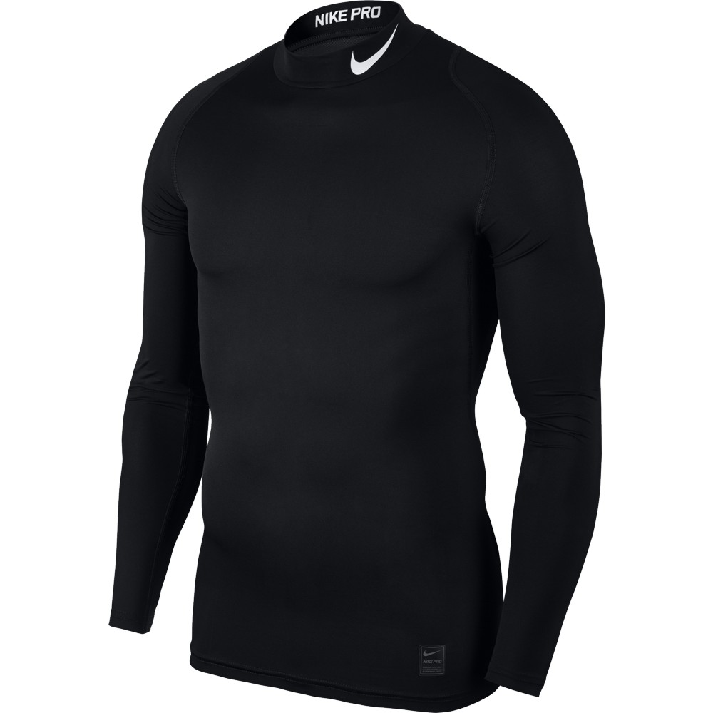 Nike Top Compression Mock Long Sleeve ADULT ONLY Black/White