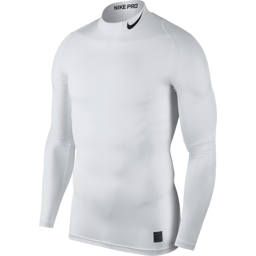 Nike Top Compression Mock Long Sleeve ADULT ONLY White/Black
