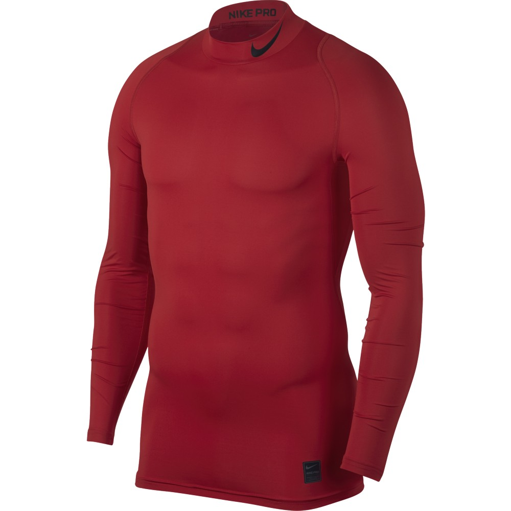 Nike Top Compression Mock Long Sleeve ADULT ONLY University Red/Black