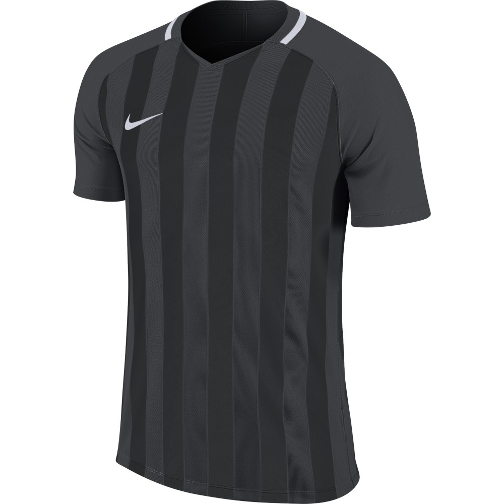 Nike Striped Division lll Jersey Short Sleeve Anthracite/Black/White