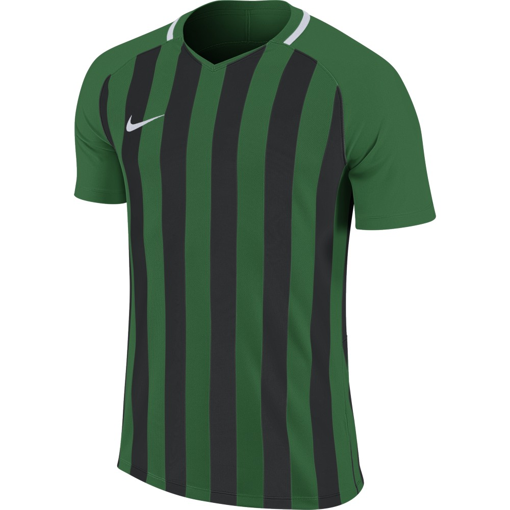 Nike Striped Division lll Jersey Short Sleeve Pine Green/Black/White