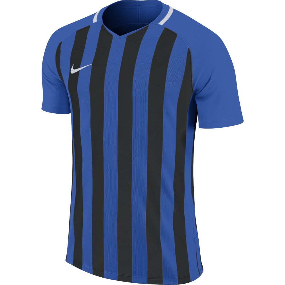 Nike Striped Division lll Jersey Short Sleeve Royal Blue/Black/White