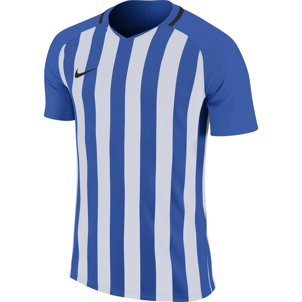 Nike Striped Division lll Jersey Short Sleeve Royal Blue/White/Black