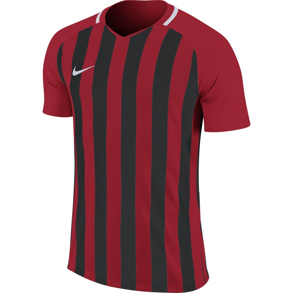 Nike Striped Division lll Jersey Short Sleeve University Red/Black/White