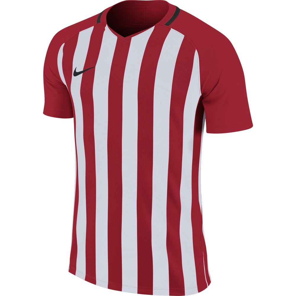 Nike Striped Division lll Jersey Short Sleeve University Red/White/Black