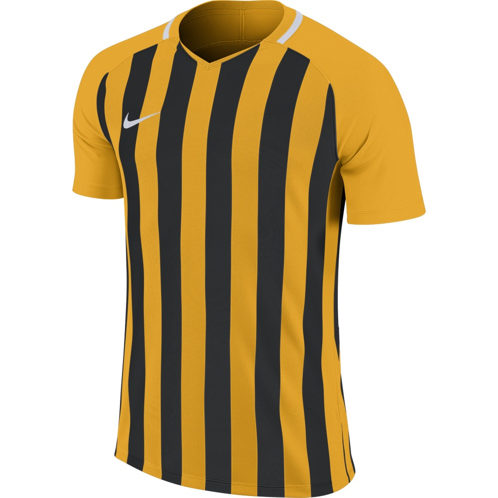 Nike Striped Division lll Jersey Short Sleeve University Gold/Black/White