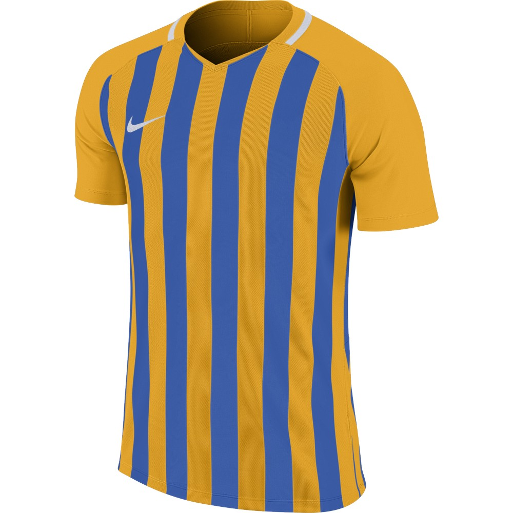 Nike Striped Division lll Jersey Short Sleeve University Gold/Royal Blue/White