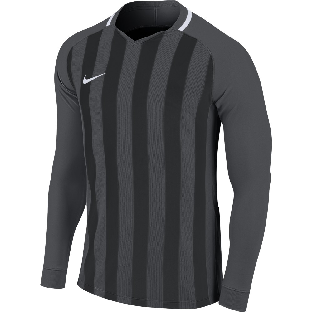Nike Striped Division lll Jersey Long Sleeve Anthracite/Black/White