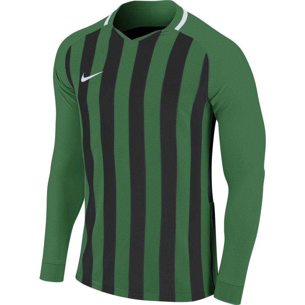 Nike Striped Division lll Jersey Long Sleeve Pine Green/Black/White