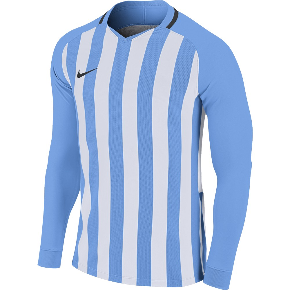 Nike Striped Division lll Jersey Long Sleeve University Blue/White/Black