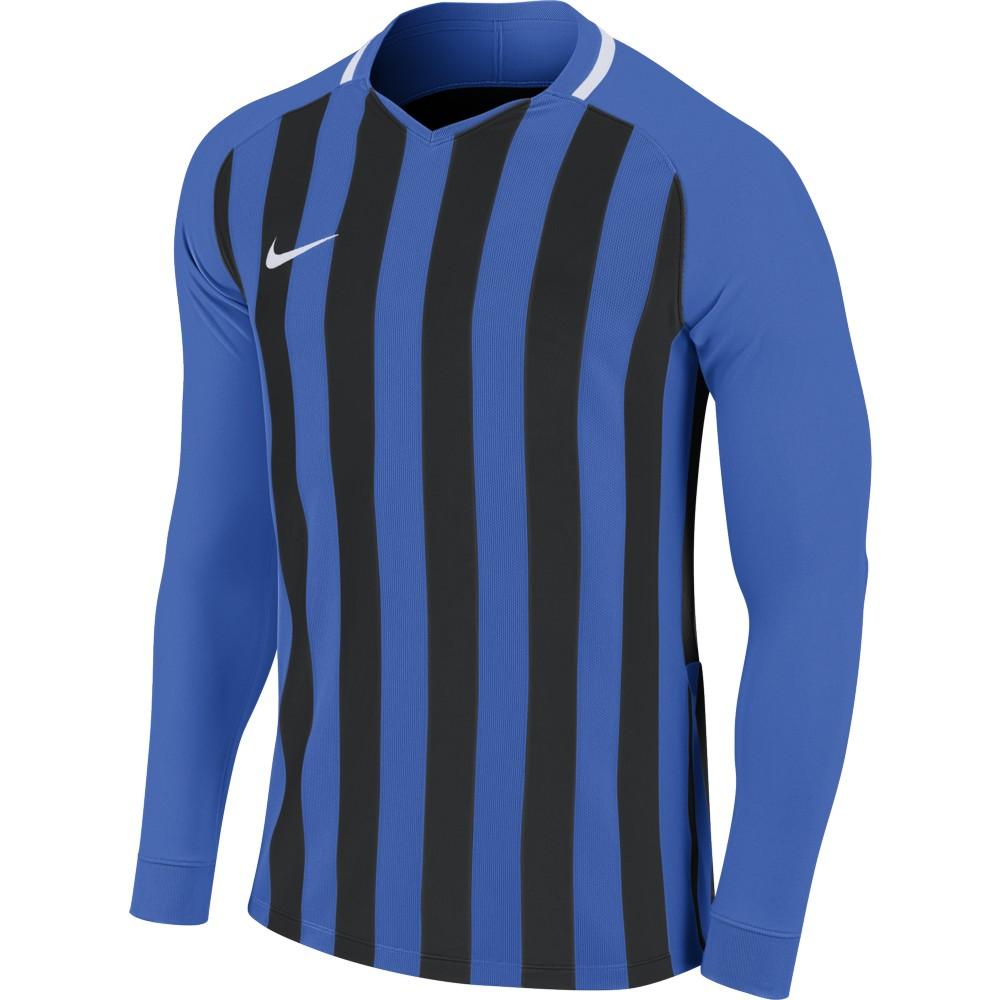 Nike Striped Division lll Jersey Long Sleeve Royal Blue/Black/White
