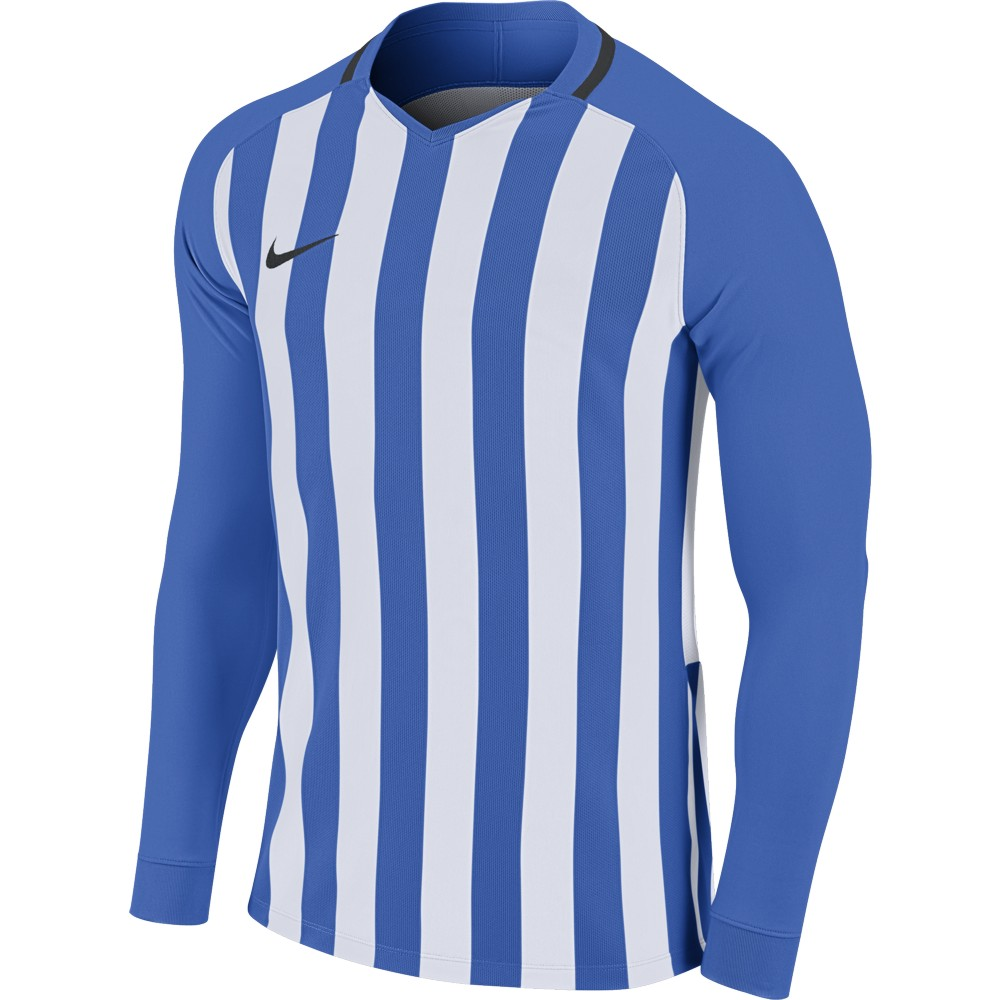 Nike Striped Division lll Jersey Long Sleeve Royal Blue/White/Black