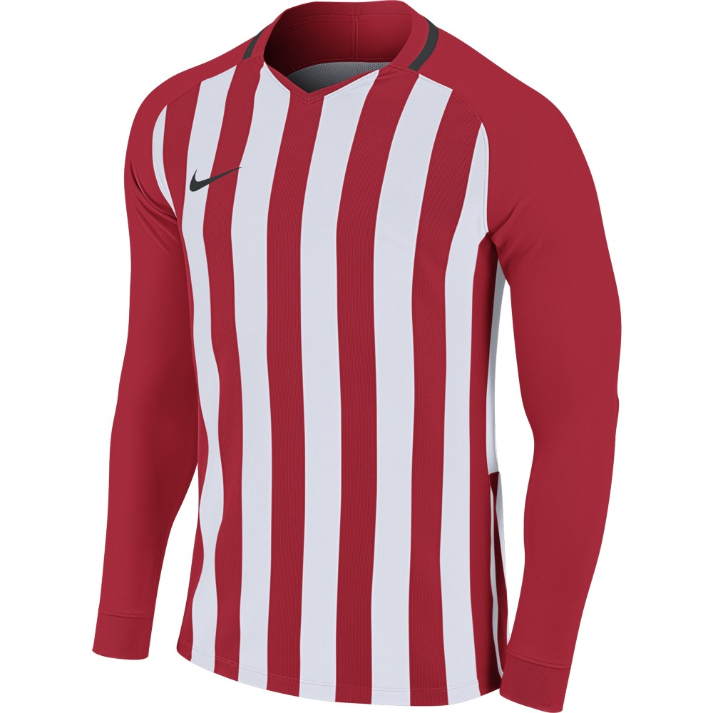 Nike Striped Division lll Jersey Long Sleeve University Red/White/Black