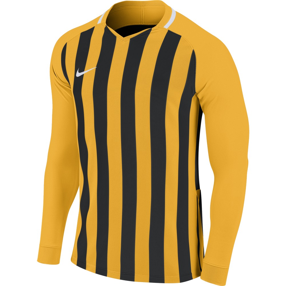 Nike Striped Division lll Jersey Long Sleeve University Gold/Black/White