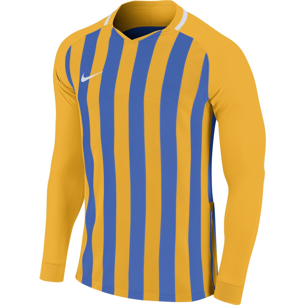 Nike Striped Division lll Jersey Long Sleeve University Gold/Royal Blue/White