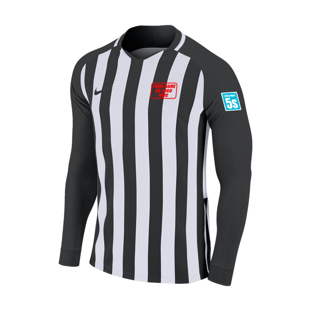 Friday Night 5's Nike Long Sleeve Division Shirt Black/White