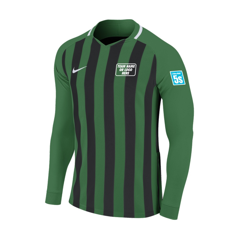 Friday Night 5's Nike Long Sleeve Division Shirt Green/Black