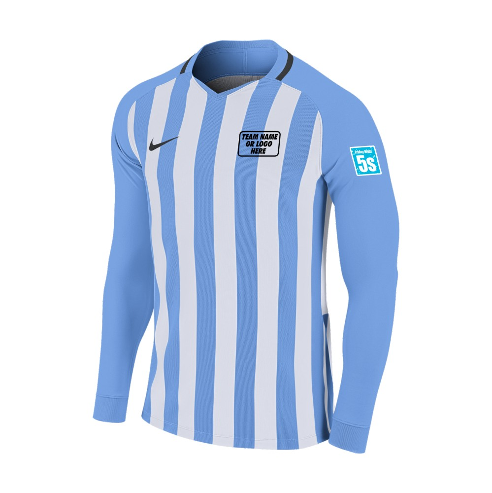 Friday Night 5's Nike Long Sleeve Division Shirt Sky/White