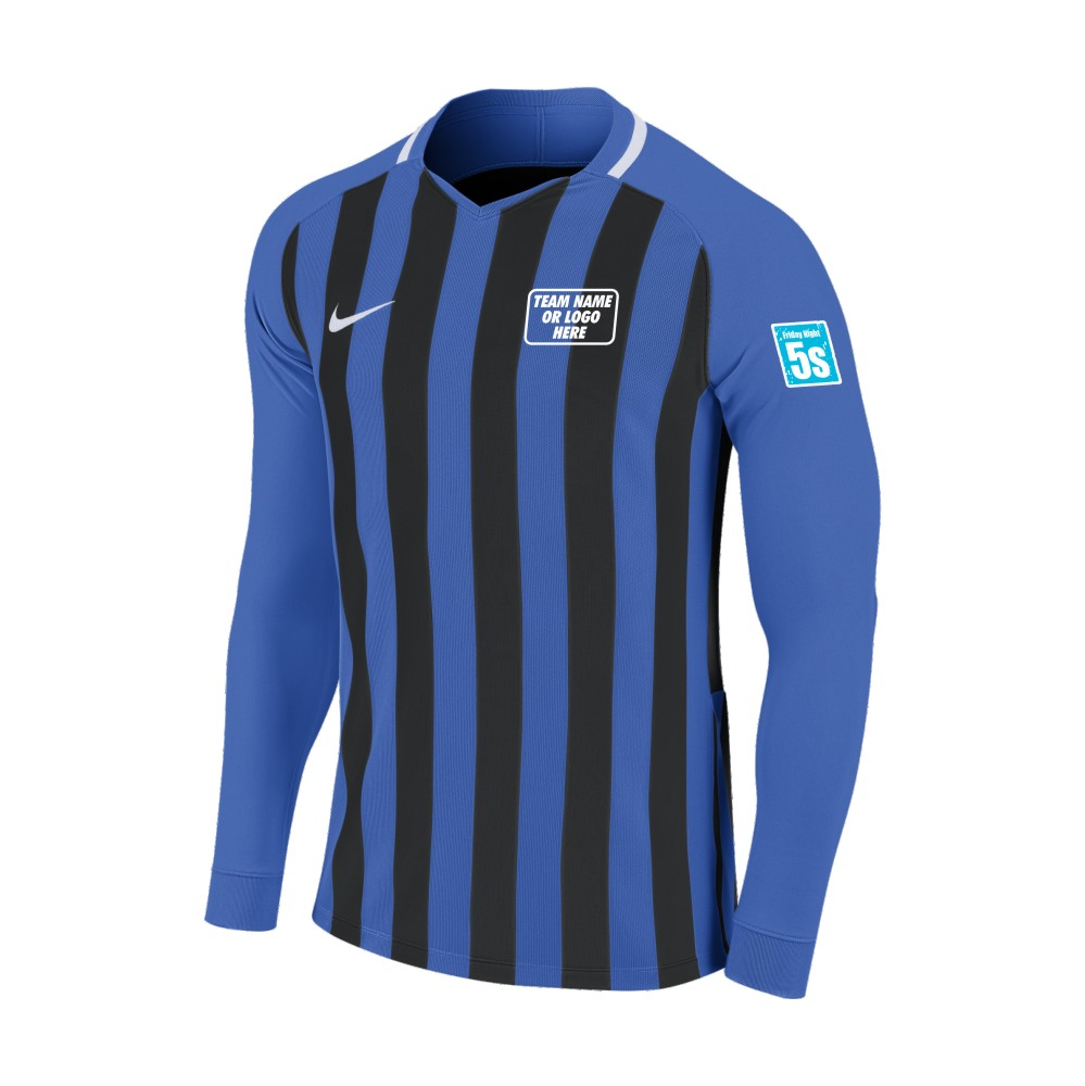 Friday Night 5's Nike Long Sleeve Division Shirt Royal/Black