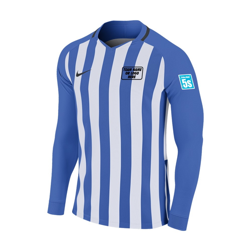 Friday Night 5's Nike Long Sleeve Division Shirt Royal/White