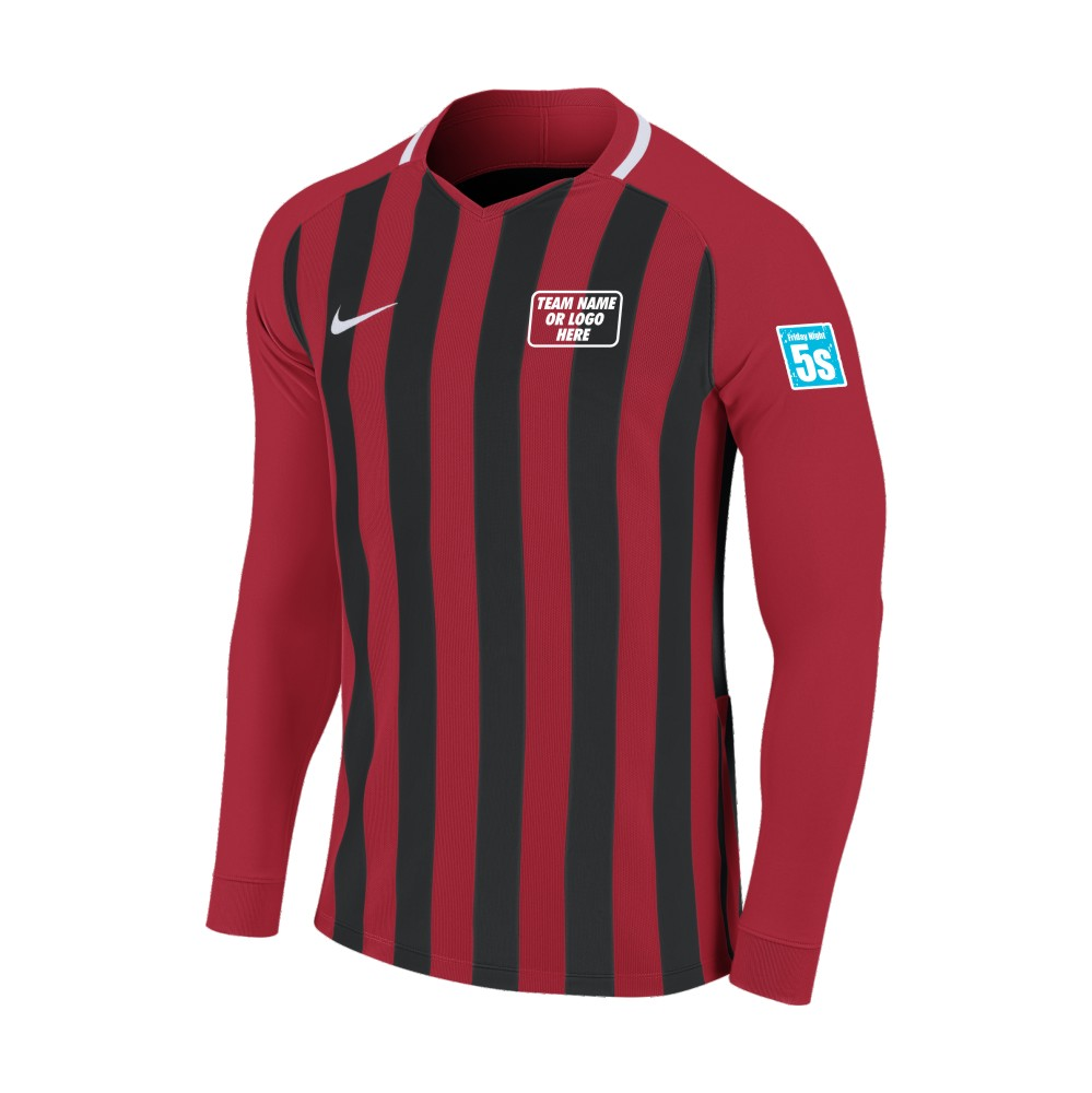 Friday Night 5's Nike Long Sleeve Division Shirt Red/Black