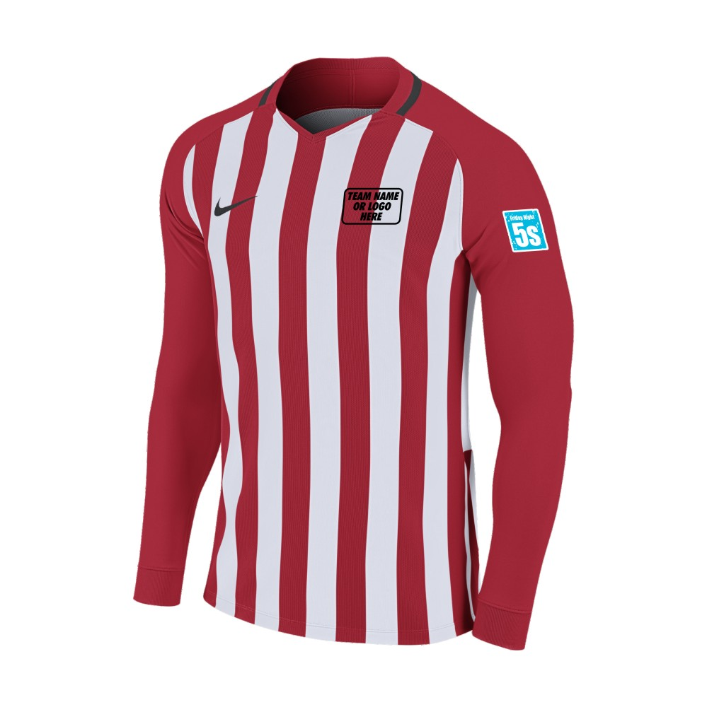 Friday Night 5's Nike Long Sleeve Division Shirt Red/White