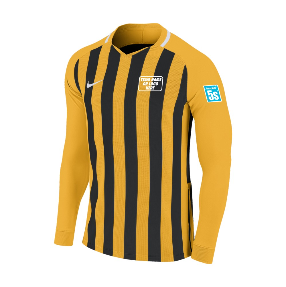 Friday Night 5's Nike Long Sleeve Division Shirt Gold/Black