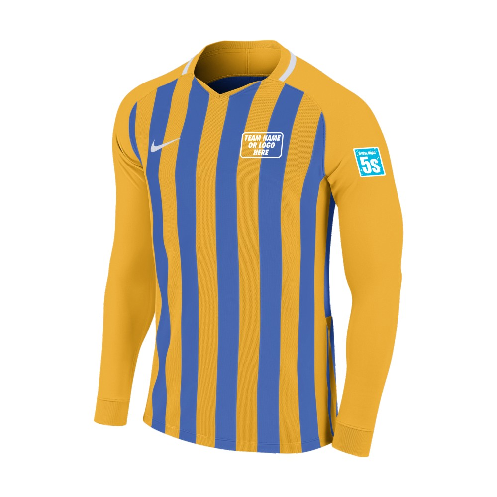 Friday Night 5's Nike Long Sleeve Division Shirt Gold/Royal
