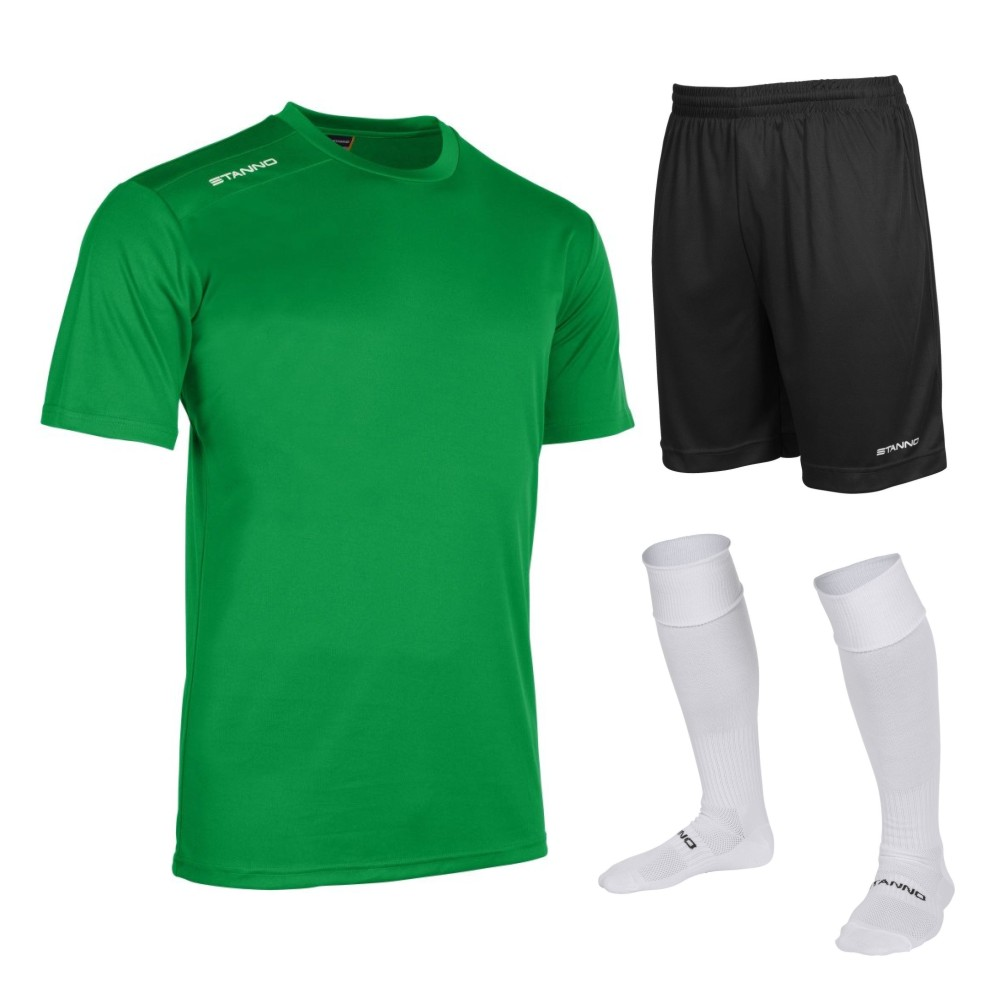 Stanno Silver Box Set Short Sleeve Green, Black and White