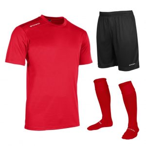 Stanno Silver Box Set Short Sleeve Red and Black