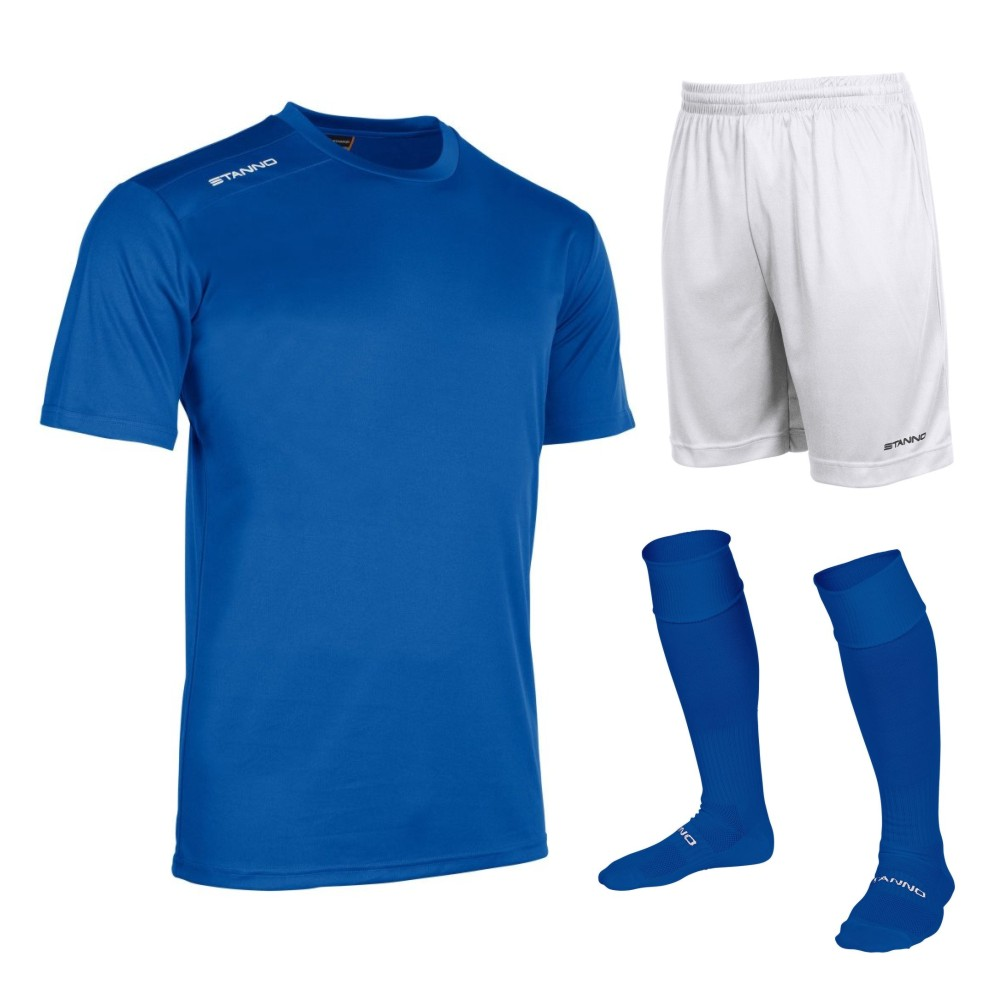Stanno Silver Box Set Short Sleeve Royal and White