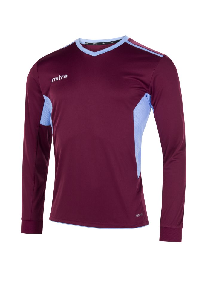 Mitre Diverge Long Sleeve Jersey Maroon/Sky