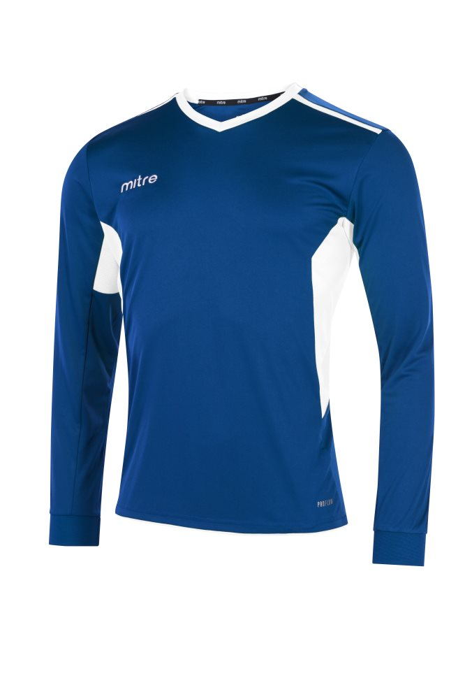 Mitre Diverge Long Sleeve Jersey Royal/White