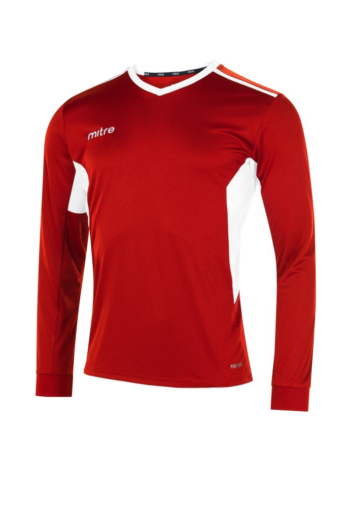 Mitre Diverge Long Sleeve Jersey Scarlet/White
