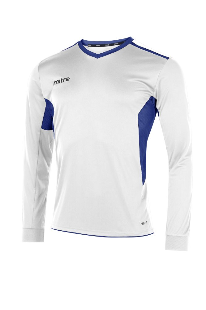 Mitre Diverge Long Sleeve Jersey White/Royal