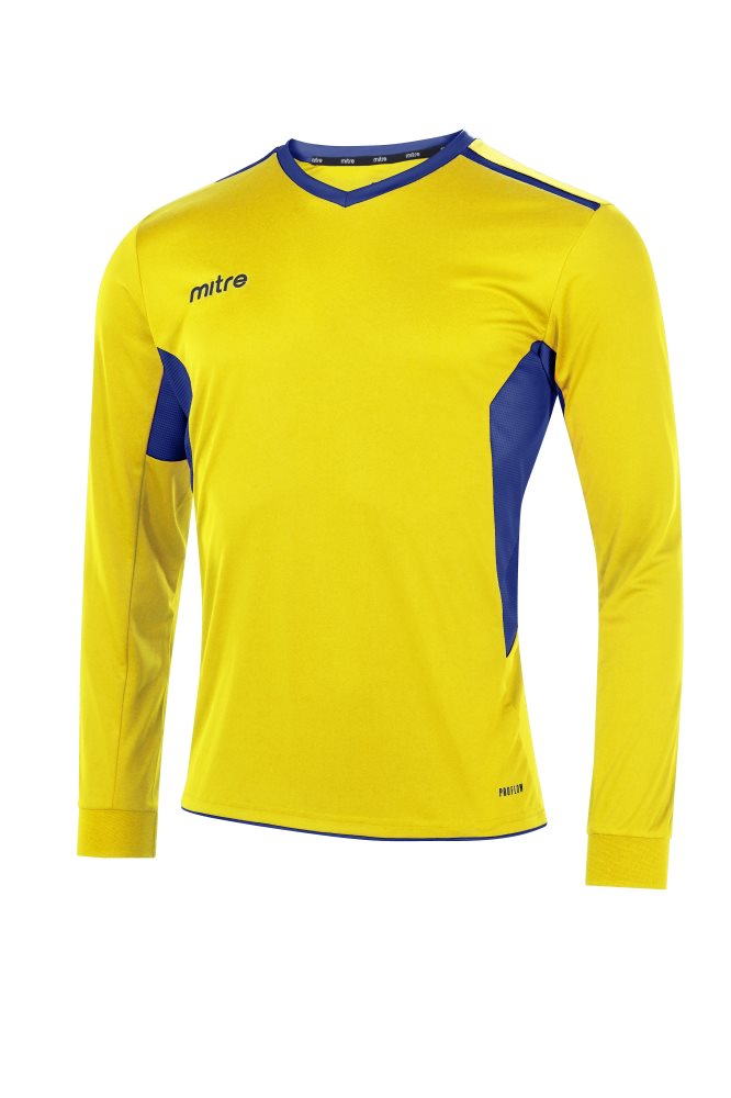 Mitre Diverge Long Sleeve Jersey Yellow/Royal