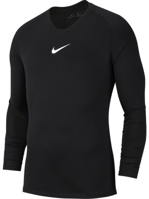 NIKE PARK FIRST LAYER JERSEY LONG SLEEVED BLACK/(WHITE)
