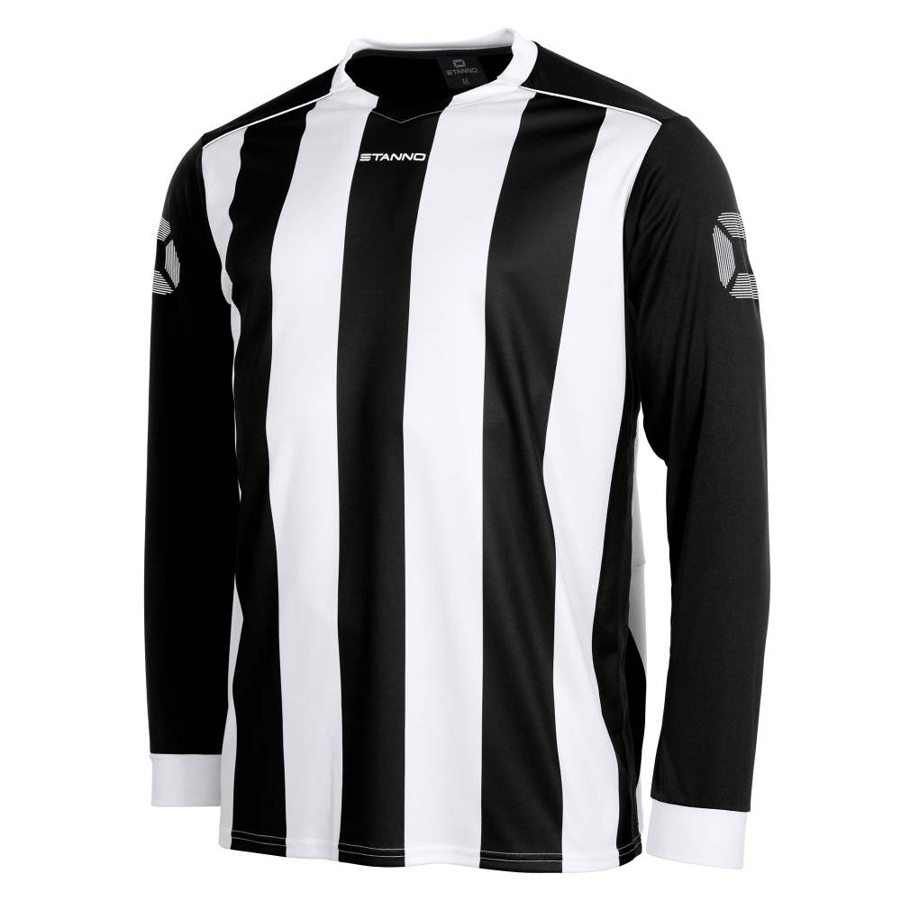 e2acb08f3cd3 Stanno Brighton Long Sleeve Football Shirt Black White - KS Teamwear